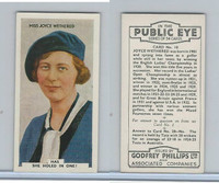 P50-112 Phillips, In The Public Eye, 1935, #10 Joyce Wethered, Golf