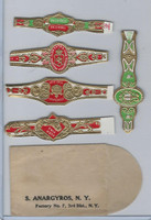 T350-1, 1910, Imitation Cigar Bands, Helmar, 5 Different & Glassine (1)