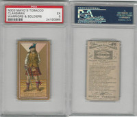 N303 Mayo, Costumes of Warriors & Soldiers, 1892, Clansman, PSA 5 EX