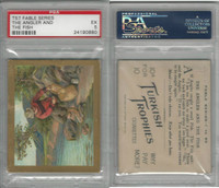 T57 Turkish Trophies, Fable Series, 1910, The Angler and the Fish, PSA 5 EX