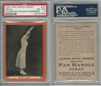 T221 Pan Handle Scrap, Champion Women Swimmers, 1910, #22, PSA 4 VGEX