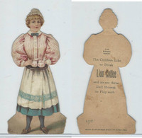K33 Lion Coffee, Die Cut Design, Doll House, 1890, Dining Room, #7 Maid