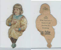 K33 Lion Coffee, Die Cut Design, Doll House, 1890, Dining Room, #7 Girl Sits