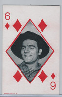 W Card, Western Playing Card, 1950's, Dennis Weaver
