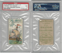 T418 American Tobacco, Old And Ancient Ships, 1910, Triere Greek War Ship, PSA 3