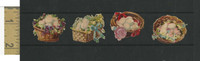 Victorian Diecuts, 1890's, Birds, Baskets of Eggs Lot of Four (2)