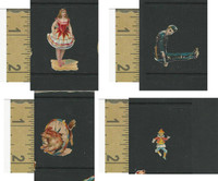 Victorian Diecuts, 1890's, Circus & Fairs, Lot of Four Small Diecuts (8)