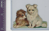 Victorian Diecuts, 1890's, Dogs, Two Puppies (10)