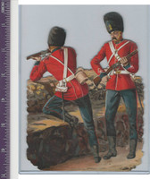 Victorian Diecuts, 1890's, Soldiers, British Soldiers at Wall (88)