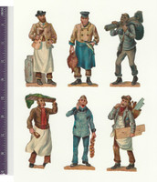 Victorian Diecuts, 1890's, Occupations, Lot of 23 Professions (P1)