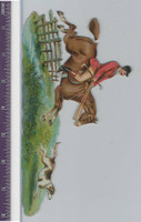 Victorian Diecuts, 1890's, Horses, Hunting Scene With Dog (P26)