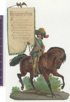 Victorian Diecuts, 1890's, Horses, Soldier, Poetry, Banner of Love (P39)
