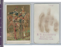 Victorian Card, 1890's, Babbitts Soap, Soldiers (1)