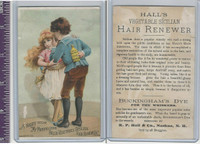 Victorian Card, 1890's, Buckinghams Dye, Children Whispering
