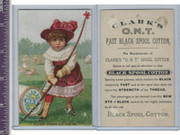 Victorian Card, 1890's, Clarks Thread, Girl Archery, Please Break Dis For Me