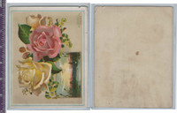 Victorian Card, 1890's, Fairchild & Shelton, Roses & Marsh Scene