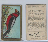 T42 American Tobacco, Birds, 1910, Black & Red Broadbill