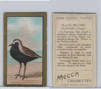 T42 American Tobacco, Birds, 1910, Black Bellied Plover