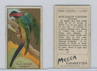 T42 American Tobacco, Birds, 1910, Blue Backed Paroquet