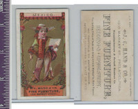 Victorian Card, 1890's, Hand Furniture, Child Mexico