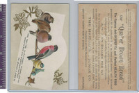 Victorian Card, 1890's, Heissler & Judge Bread, Birds