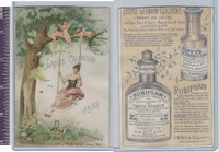 Victorian Card, 1890's, Hoyts German Cologne, Woman on Swing