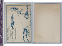 Victorian Card, 1890's, Lukens & Compton, Crab & Bird