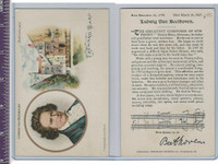 Victorian Card, 1890's, Presser, Birthplace of Ludwig Beethovan
