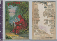 Victorian Card, 1890's, St. Jacobs Oil, Cloaked Man In Forrest