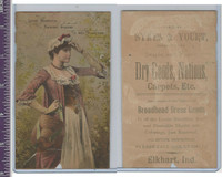 Victorian Card, 1890's, Sykes & Yourt Dry Goods, Woman