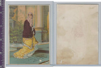 Victorian Card, 1890's, STappey & Co, Woman In Yellow Dress