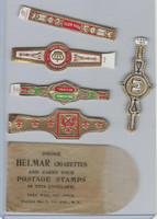 T350-1, 1910, Imitation Cigar Bands, Helmar, 5 Different & Glassine (2)