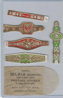 T350-1, 1910, Imitation Cigar Bands, Helmar, 5 Different & Glassine (14)