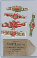 T350-1, 1910, Imitation Cigar Bands, Helmar, 5 Different & Glassine (15)