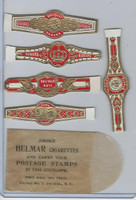 T350-1, 1910, Imitation Cigar Bands, Helmar, 5 Different & Glassine (17)