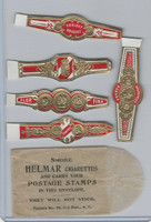T350-1, 1910, Imitation Cigar Bands, Helmar, 5 Different & Glassine (18)