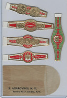 T350-1, 1910, Imitation Cigar Bands, Helmar, 5 Different & Glassine (19)