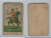 W Card, Strip Card, Military, 1920's, #7 US Cavalry