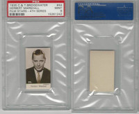 B0-0 Bridgewater, Film Stars 4th Series, 1940, #44 Herbert Marshall, PSA 9 Mint
