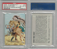 F279-8 Quaker, Braves of Indian Nations, 1956, #18 Sioux, PSA 6 EXMT