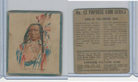 V254 Canadian CG, Papoose Gum Indians, 1934, #13 King Of The Crow