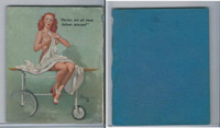 W424 Mutoscope Blotter Cut Pin Up Girls, 1940's, Doctor Are All Those