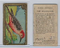 T43 Mecca Cigarettes, Bird Series, 1911, Red Breasted Woodpecker