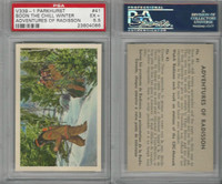 V339-1 Parkhurst, Adventures Of Radisson, 1957, #41, PSA 5.5 EX+