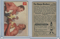 V337-1 Parkhurst, Wrestling, 1954, #37 Sharpe Brothers, (Trim)