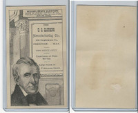 H602 US Clothing, Presidents, 1890's, William Henry Harrison