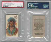 D46 Weber Baking, Indian Pictures, 1920, Agate Arrow Point, PSA 5.5 EX+