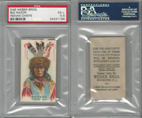 D46 Weber Baking, Indian Pictures, 1920, Big Razor, PSA 5.5 EX+