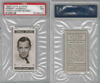 L56-12 Lloyd Cigarettes, Cinema Stars, 1937, #31 Herbert Marshall, PSA 7 NM