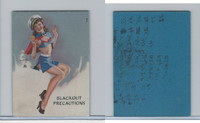 W424 Mutoscope Blotter Cut Pin Up Girls, 1940's, Blackout Precautions